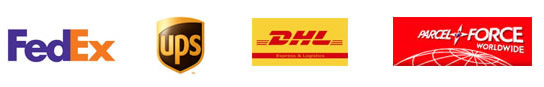 DHL, UPS, FedEx, Parcelforce