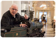 Pete Waterman with his train