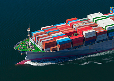 a container ship