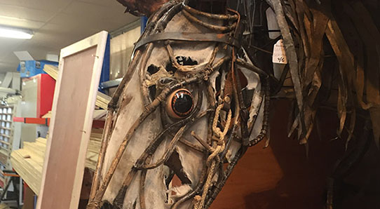 war horse-puppet-head