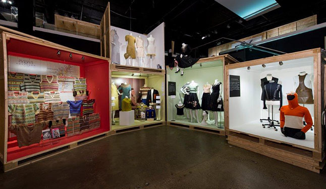 The Fashion and Textile Museum exhibit that Alban Shipping moved to Sweden