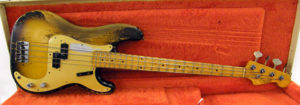 Fender bass belonging to Cliff Williams of AC/Dc