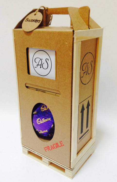 Easter egg in crate