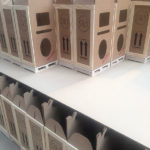 Rows of miniature crates