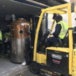 Lifting the still into the case